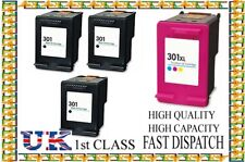 4 HP 301 Black And XL Colour Ink Cartridges For HP Deskjet 2540