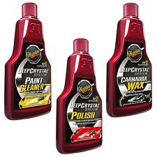 Meguiars DEEP CRYSTAL Step 1-3 SET Paint Cleaner, Polish und Carnauba Wax