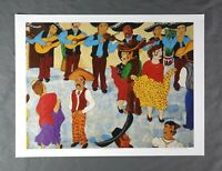 Vintage Signed Listed Artist Escalet Latin American Art Mexican Mariachi Band