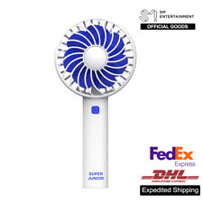SUPER JUNIOR SM Official Goods Rechargeable Fan Air Cooler Mini Operated Hand
