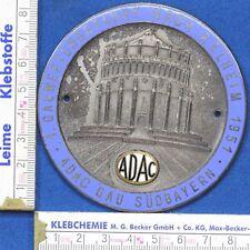 ADAC BADGE Plakette Oldtimer Gaufahrt  Kehlheim  1951