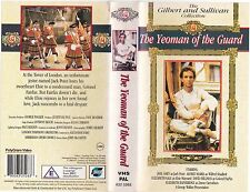 THE YEOMAN OF THE GUARD VHS PAL JOEL GREY,ALFRED MARKS,ELIZABETH BAINBRIDGE 80S