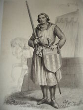 MOYEN AGE / GRAVURE XIXe / Le Comte de Chastillon