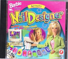 Barbie Nail Designer CD-ROM (PC, 1998, Mattel Media) - Free USA Shipping!
