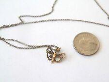 VINTAGE 19 1/4'' GOLD FILLED NECKLACE 10K GOLD VIMAR BUTTERFLY SLIDER/PENDANT*NO