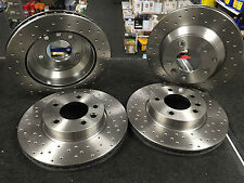 PORSCHE CAYENNE VW TOUAREG BRAKE DISC PERFORMANCE CROSS DRILLED FRONT REAR