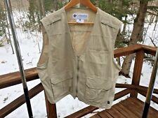 Columbia GRT Mens Womens Large Nylon Khaki Multi Pocket Fishing Vest Barely Worn