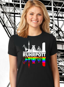 """Ruhrpott Mädels Premium T-Shirt """"gespiegelt"""" Ruhrgebiet S-5XL"""