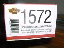 "B.L.I. #1572 S.P.""Coast Daylight""Articulated 2-Chair Car Set #2473 & 2474 H.O."