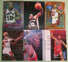 Lot (74) DENNIS RODMAN 1994 Finest 134 Bulls Spurs Pistons LAST DANCE Inserts!