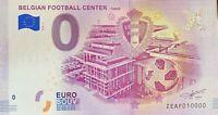 BILLET 0  EURO BELGIAN FOOTBALL CENTER TUBIZE 2018  NUMERO 10000 DERNIER