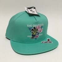 Vans Disney Mickey's 90th Snapback Hat Turquoise Teal Seafoam Green Mouse Cap