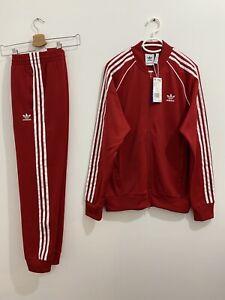 Adidas Originals Superstar Tracksuit Power Red White Size L