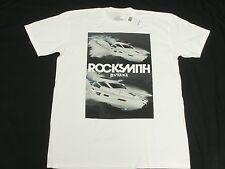 $28 NWT Mens Rocksmith T-Shirt Digi-Yacht Tee White Urban *Made In USA Sz S N384