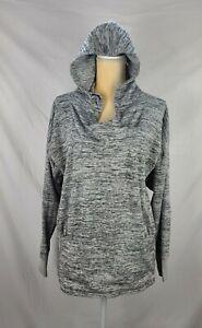 Athleta Women's Gray Hooded Pullover Knit Sweater sz L