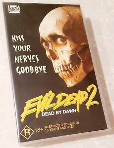 Evil Dead 2 Dead By Dawn VHS Video Tape RARE Bruce Campbell Ash Horror Movie II