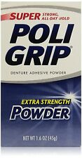 PoliGrip Super Denture Adhesive Powder, Extra Strength, 1.6 oz (45 g)