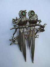 RARE! 1948 Crown Trifari A. Philippe Sterling Silver Love Bird Pin Brooch- HTF
