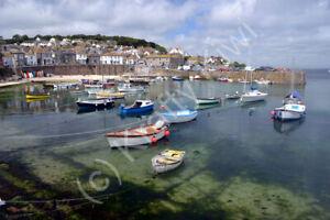 Mousehole Harbour Cornwall Photo Art Print Canvas (UK)