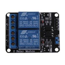2 channel 12V 10A relay control board module with optocoupler for PIC AVR ARM