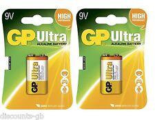 2 x GP 9V gp6lr61 C1 batterie piles alcalines ultra - - 2 boîtes de 1