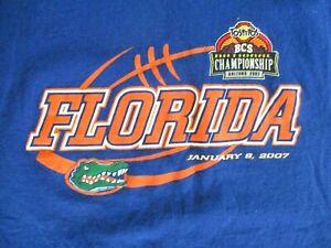 FLORIDA GATORS 2007 BCS CHAMPIONSHIP T SHIRT Tim Tebow College Football LARGE