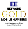 EASY MEMORABLE GOLD MOBILE PHONE NUMBER ON EE PAY AS YOU GO SIM CARD