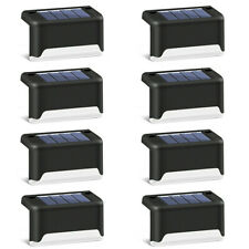 4/12PCS Solar Powered Fence Deck Lights Wall Step Stairs LED Outdoor Garden Lamp