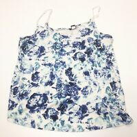 Women's Plus Size 2X Torrid 2 Blue Floral Print Stretch Tank Top
