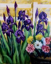 IRIS AND FRIENDS  giclee print on canvas by Richard R. Nervig