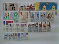 More details for great britain 1990 commemorative stamps year set mnh mint 9 x sets 35 stamps