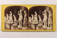 UK Londra Esposizione 1862 Scultura Romana Foto Stereo Albumina