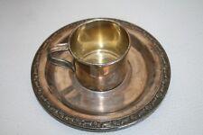 Wm A Rogers Oneida Cup & Saucer, Rare Set