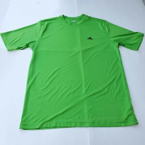 Adidas Green Active Work Out T-Shirt Size Extra Large Running Short Sleeve Mens