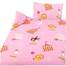 Kinder Bettwäsche 100% Baumwolle 100x135+40x60cm rosa Zirkus Des. 42323-1