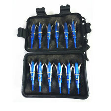 12Pcs Blue Wizard Broadheads 100Grain With Box Arrowhead Compound Bow Crossbow