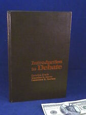 Language Arts Book Introduction to Debate Keefe Harte Norton Rare New Hardcover