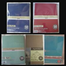 "RECOLLECTIONS CARDSTOCK Paper 8 1/2"" x 11"" 50 Sheets 65 lb SOLID COLOR U PICK"