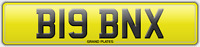 BIG REG B19 BNX NUMBER PLATE INITIALS REGISTRATION ASSIGNED FREE NO FEES RARE BN