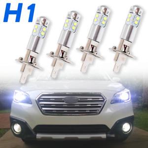 4Pcs H1 CREE LED 6000K White Headlight High Low Beam Bulbs DRL Running Lamp IP67