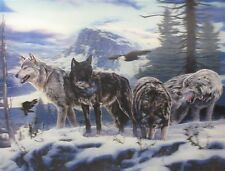 "3D Lenticular Picture wolf pack 2a2006 15 1/2""x 11 1/2"