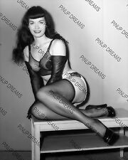 """Bettie Page 10"""" X 8"""" Photograph of Irving Claws Burlesque Queen 1950s Reprint"""