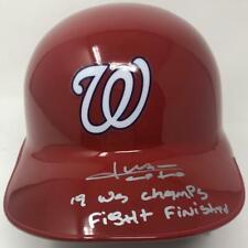 """JUAN SOTO Autographed Nationals """"19 WS Champs"""" Batting Helmet FANATICS LE 22"""