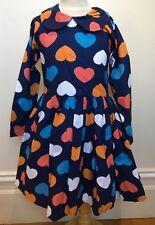 OOBI Brand New ANNABEL Navy Heart Pattern Long Sleeve Tulle Skirt Party Dress 7