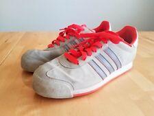 Adidas Samoa Gray Red Mens Shoes Sz 9.5