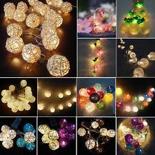 LED Batterie Lichterkette Flamingo/Ananas/Ball Weihnachten Party Hochzeit Deko