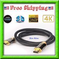 Ultra HD High Speed UHD HDMI v2.0 Cable HDTV LED 3D 2160P 4K X2K HDR Bluray Lot