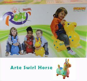 Gymnic Original Ledraplastic Rod Horse Italy Tie Dye Rainbow Arte Swirl New