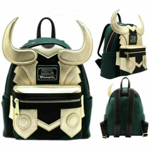 Avengers Loki Faux Leather Mini Loungefly Backpack Purse Backpack Shoulder Bags!