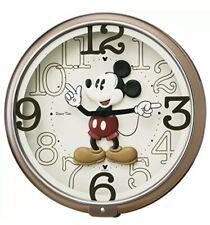SEIKO Disney Mickey Mouse Wall Clock 6 melodies Brown Metallic F/S